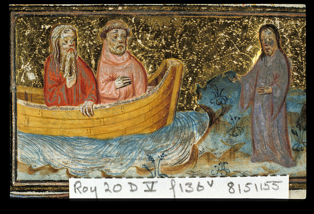 Calling of the Apostles from BL Royal 20 D V, f. 136v