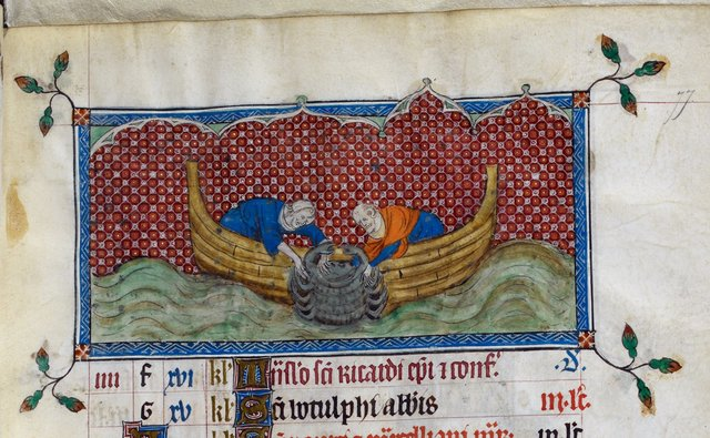 Cancer from BL Royal 2 B VII, f. 77
