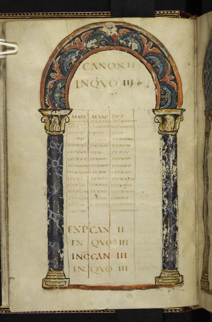 Canon table from BL Harley 1775, f. 9v