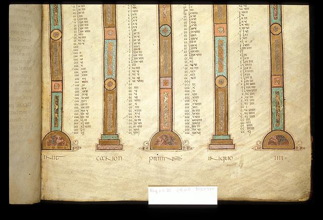 Canon table from BL Royal 1 E VI, f. 4