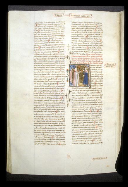 Canonica porcio episcopi (Bishop's portion of canons' revenue) from BL Royal 6 E VI, f. 234v