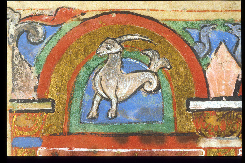 Capricorn from BL Lansdowne 381, f. 7