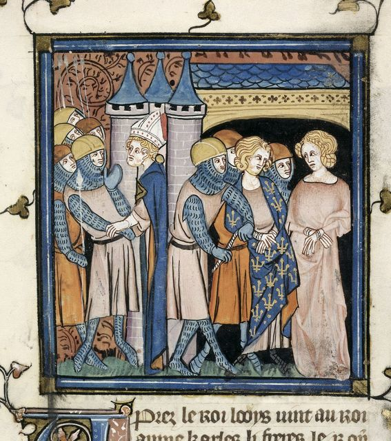 Capture of Charles from BL Royal 16 G VI, f. 258