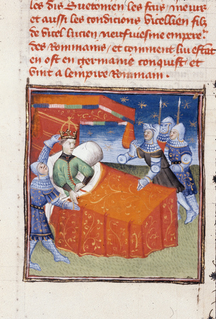 Capture of Vitellius from BL Royal 20 C I, f. 287v