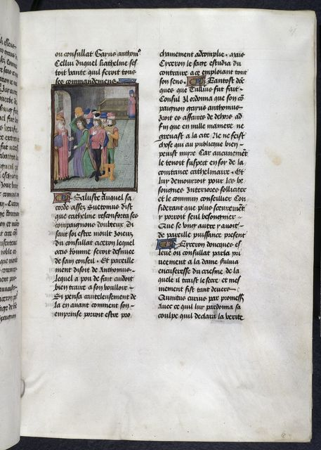 Catiline and conspirators from BL Royal 16 G VIII, f. 47
