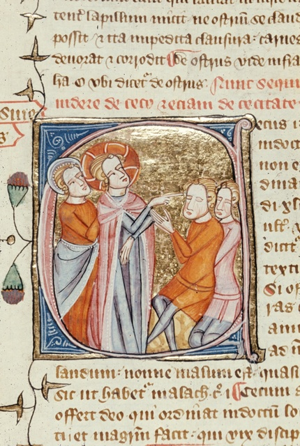 Cecus sive Cecitas (Blind person, or Blindness) from BL Royal 6 E VI, f. 245