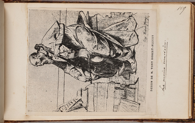 Cello spelende monnik/ door Tony Robert-Fleury (1837-1912)