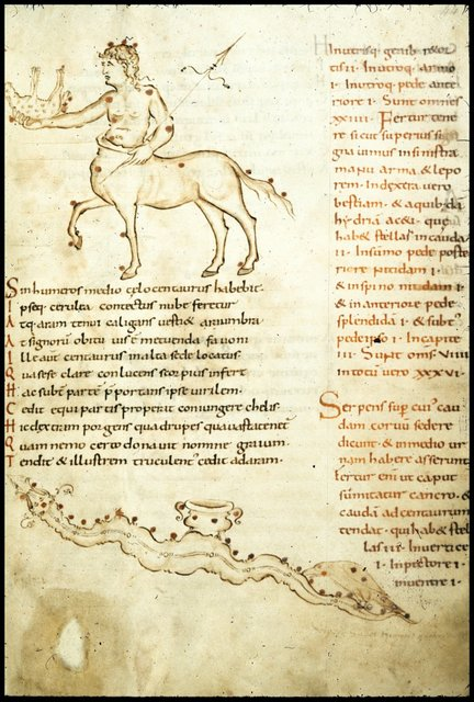 Centaur and Hydra from BL Harley 2506, f. 44