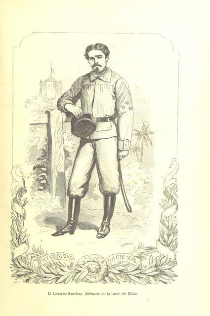 """Cesáreo Sánchez from """"Historia de la insurreccion y guerra de la isla de Cuba ... Edicion illustrada, etc"""""""