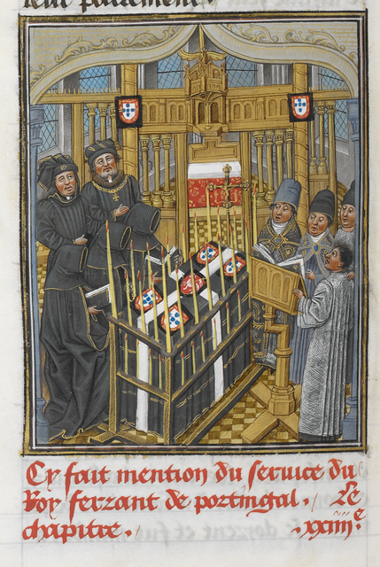Chapel Ardente from BL Royal 14 E IV, f. 217v
