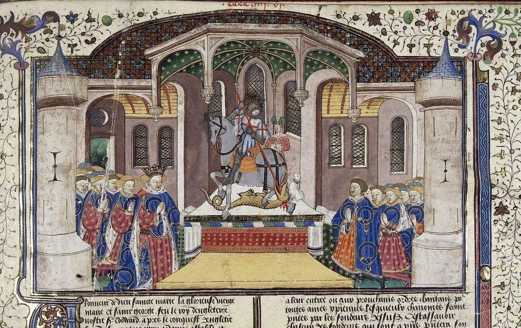 Chapter of the Garter from BL Royal 15 E VI, f. 439