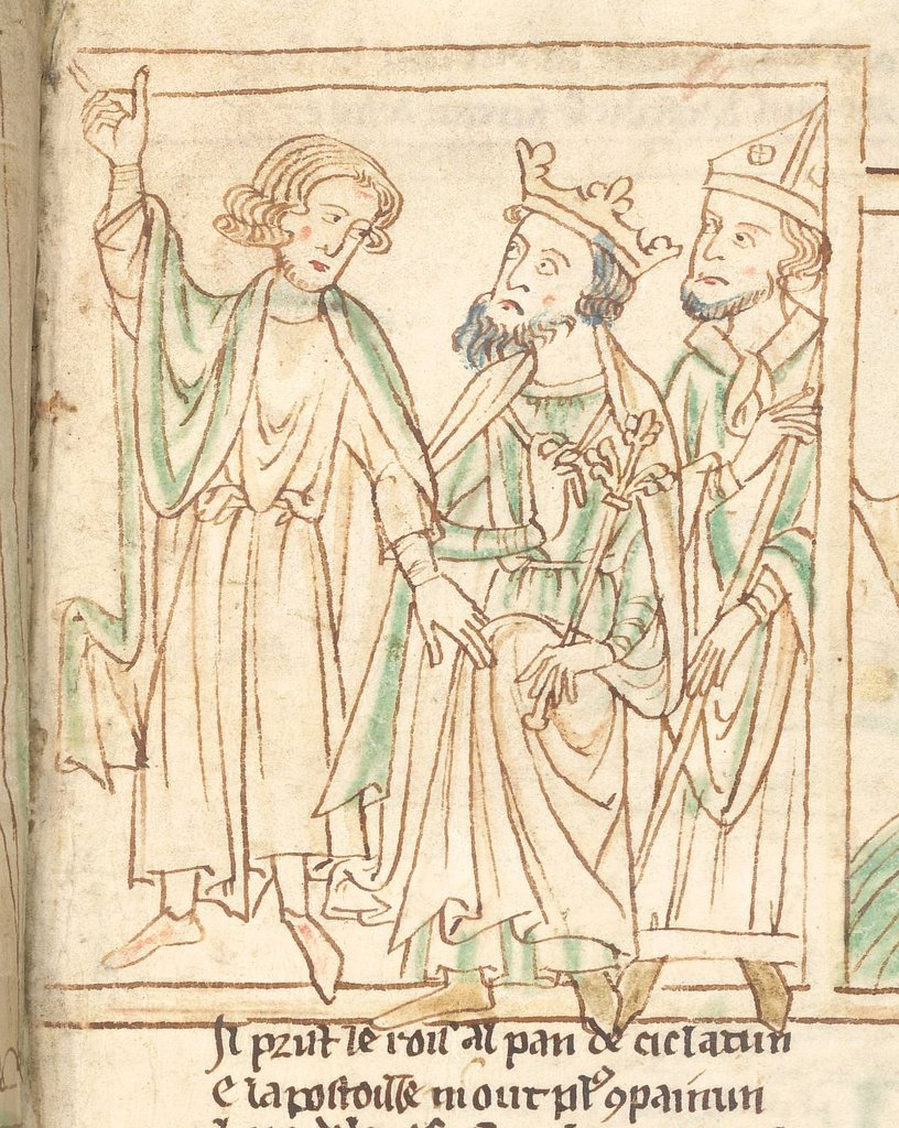 Charlemagne from BL Lansdowne 782, f. 19