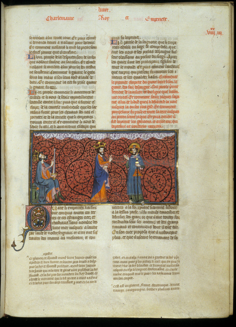Charlemagne from BL Royal 16 G VI, f. 165