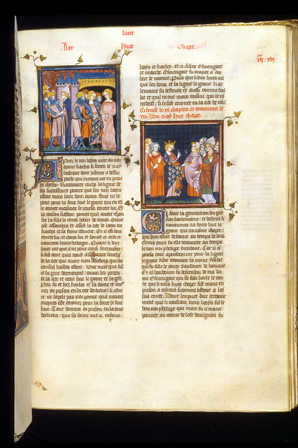 Charles, and Council of Rheims from BL Royal 16 G VI, f. 258
