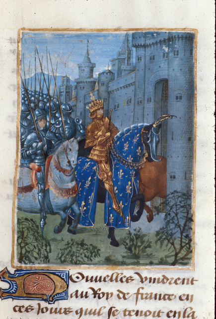 Charles VI of France from BL Royal 14 D VI, f. 161