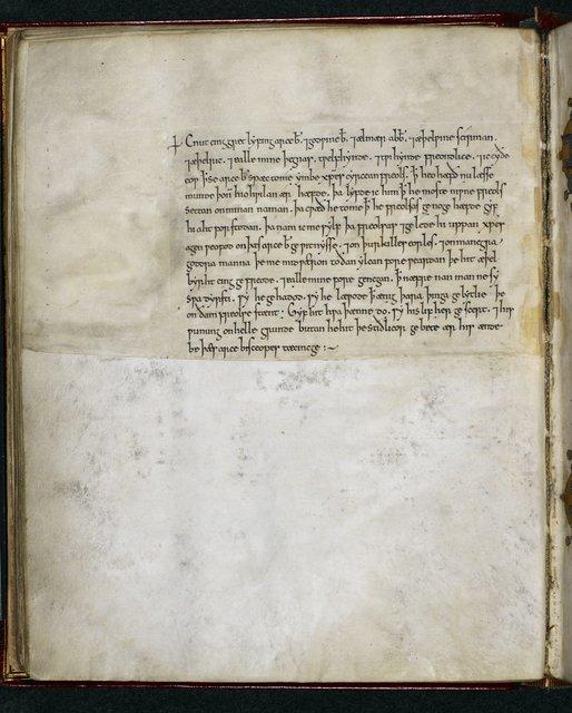 Charter of Cnut from BL Royal 1 D IX, f. 44v