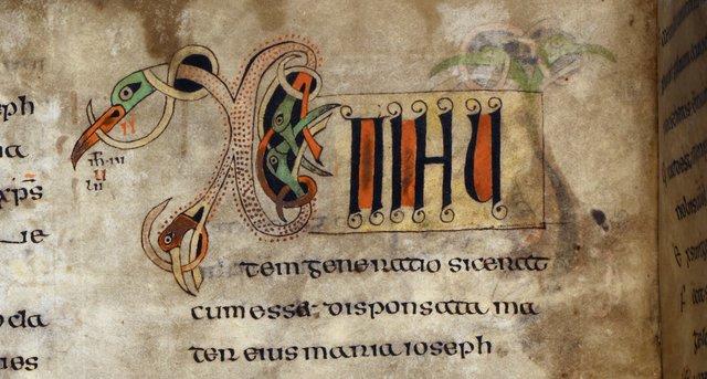 Chi-rho from BL Royal 1 B VII, f. 15v
