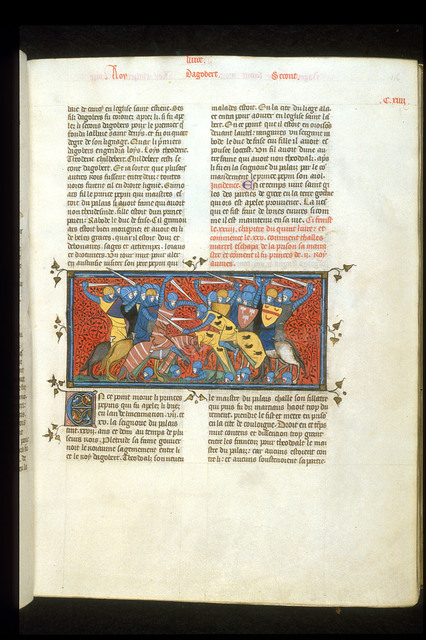 Chilperic and Charles Martel from BL Royal 16 G VI, f. 116