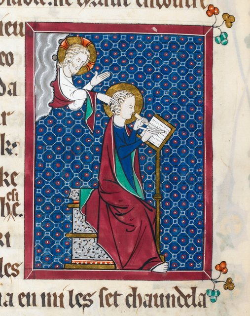 Christ and John from BL Royal 15 D II, f. 109v