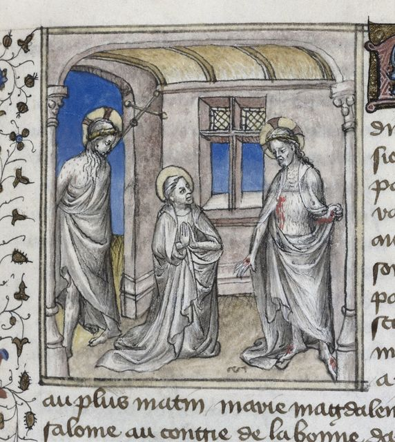 Christ and the Virgin from BL Royal 20 B IV, f. 141