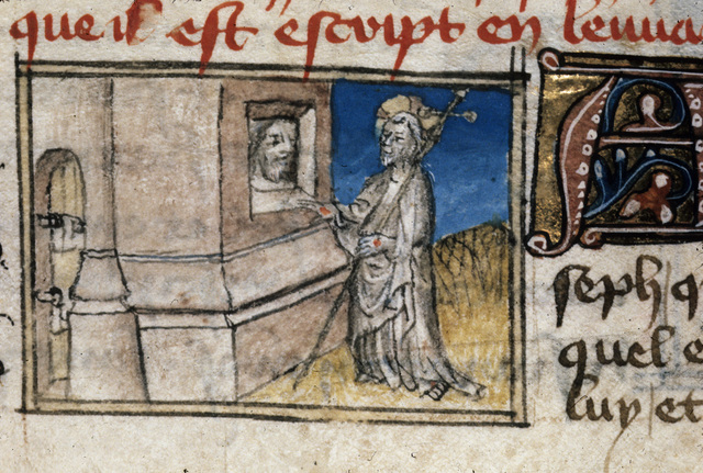 Christ appearing from BL Royal 20 B IV, f. 145