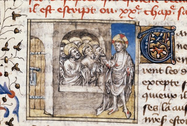Christ appearing from BL Royal 20 B IV, f. 148v