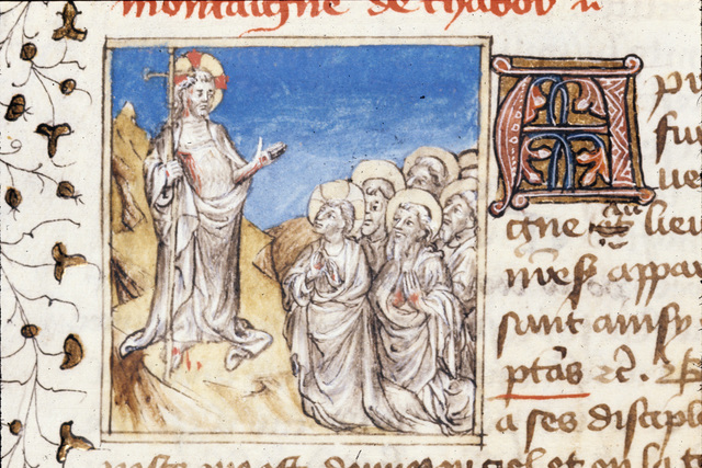 Christ appearing from BL Royal 20 B IV, f. 155v