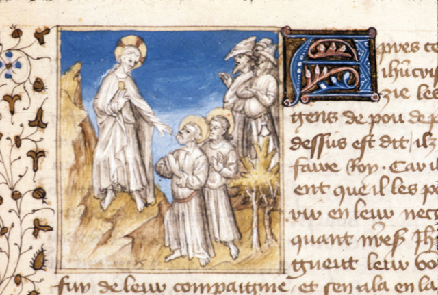 Christ departing from BL Royal 20 B IV, f. 72