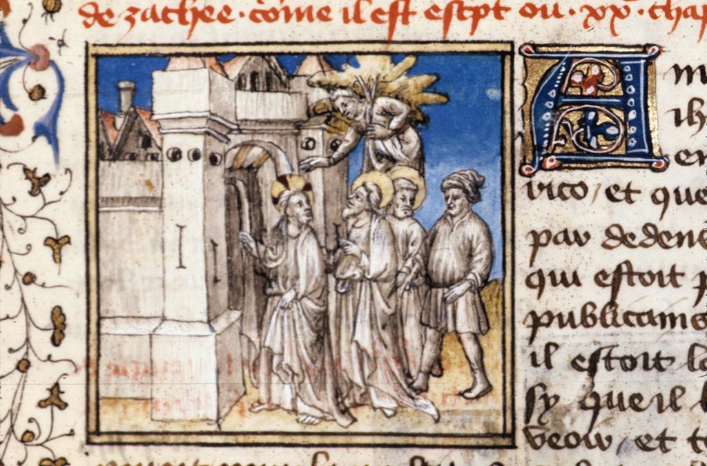 Christ entering Jericho from BL Royal 20 B IV, f. 94