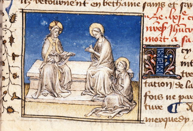 Christ foretelling his death from BL Royal 20 B IV, f. 104