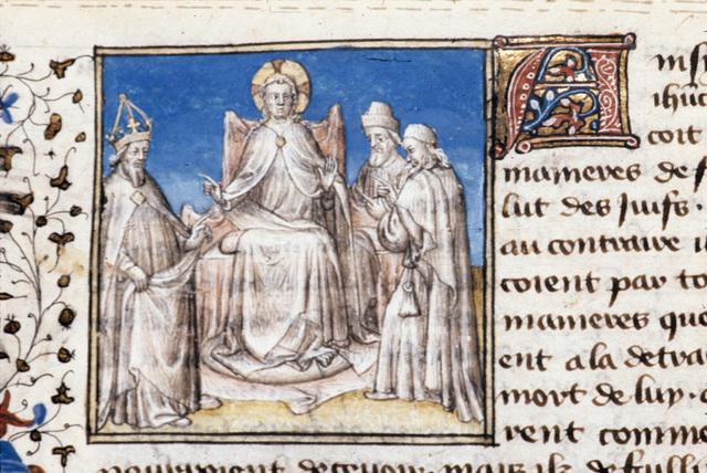 Christ from BL Royal 20 B IV, f. 92v