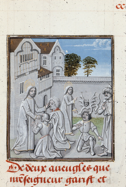 Christ healing from BL Royal 15 D I, f. 286