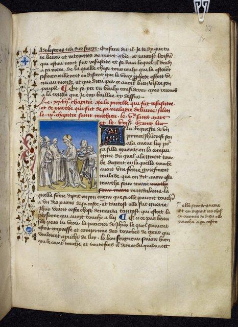Christ healing from BL Royal 20 B IV, f. 62