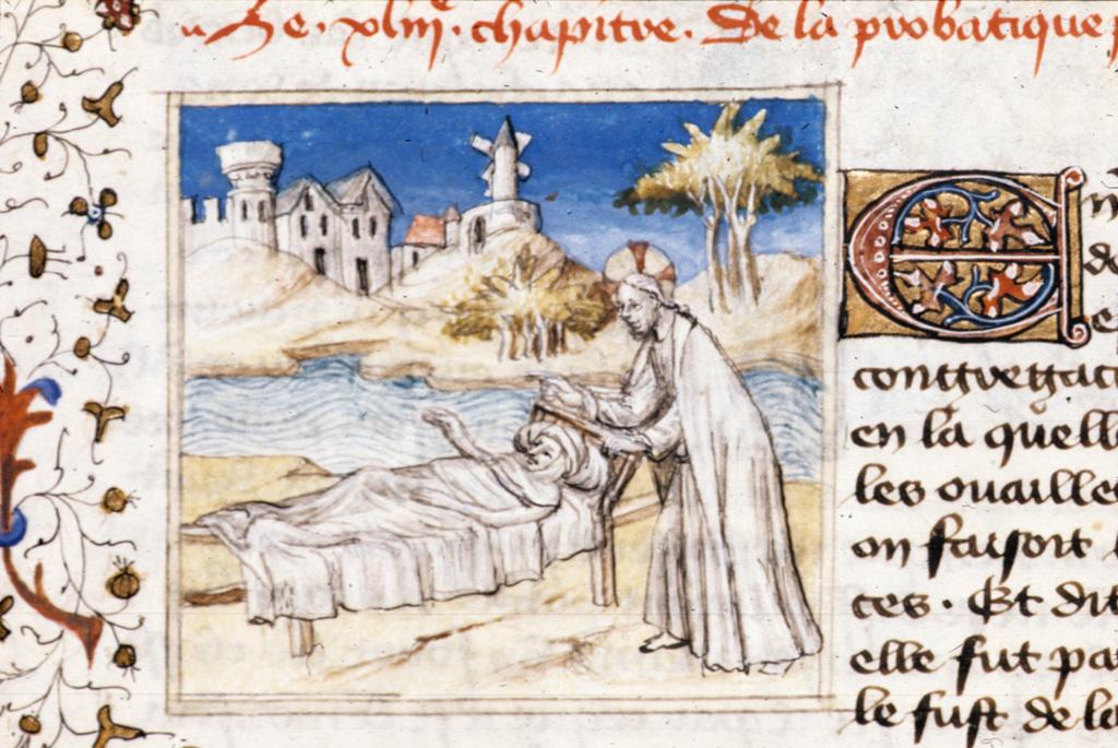 Christ healing from BL Royal 20 B IV, f. 82v