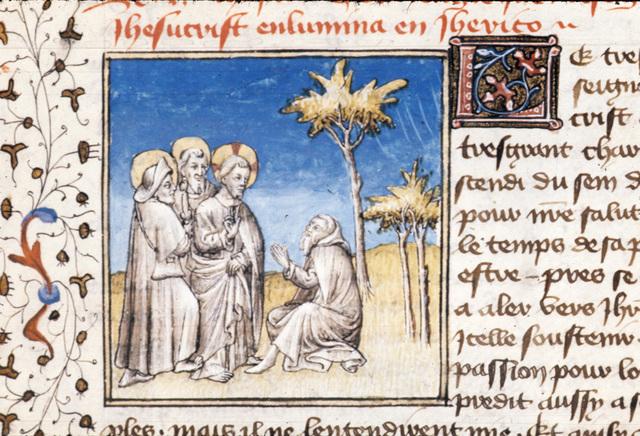 Christ healing from BL Royal 20 B IV, f. 93