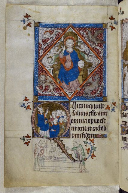 Christ in Majesty and Thomas Becket from BL Royal 2 B VII, f. 298v