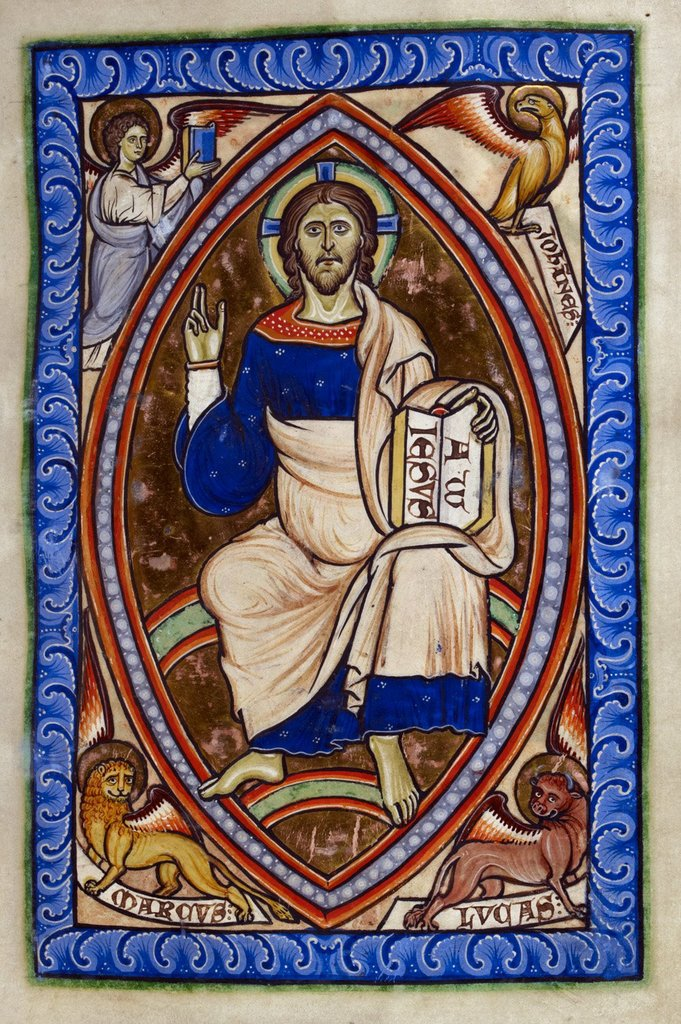 Christ in Majesty from BL Royal 2 A XXII, f. 14