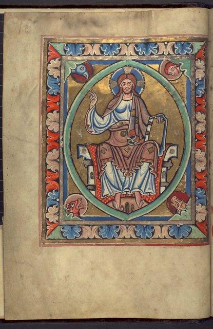 Christ in Majesty from BL YT 2, f. 1v