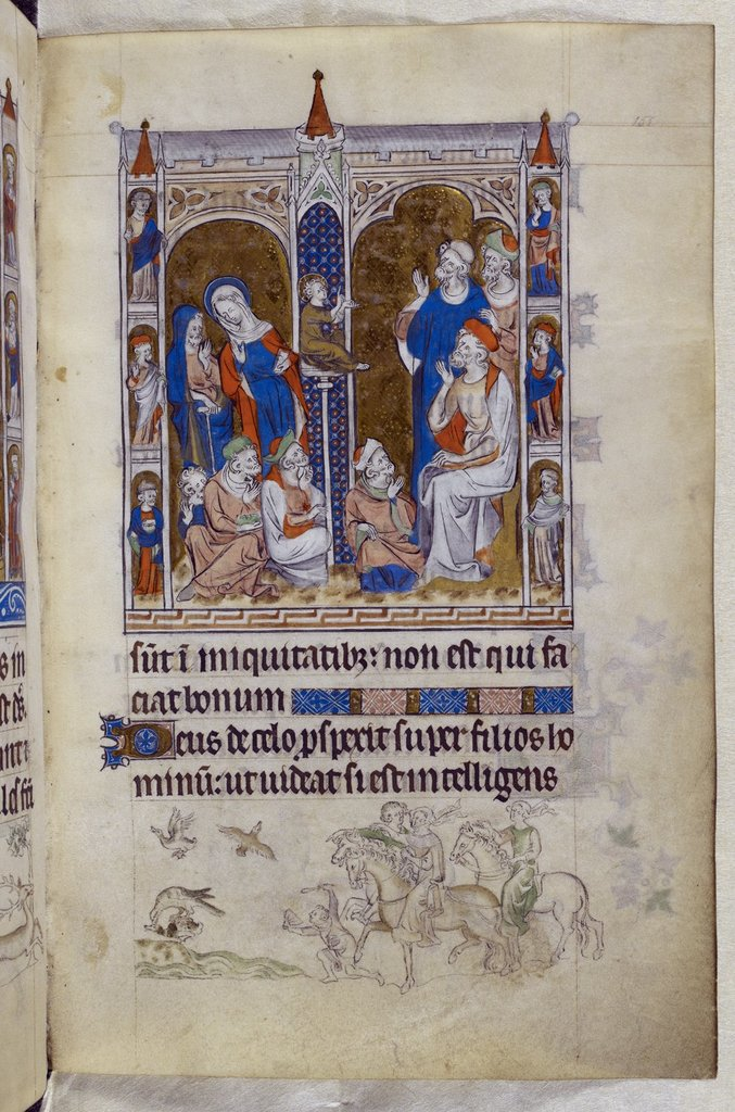 Christ in the Temple from BL Royal 2 B VII, f. 151