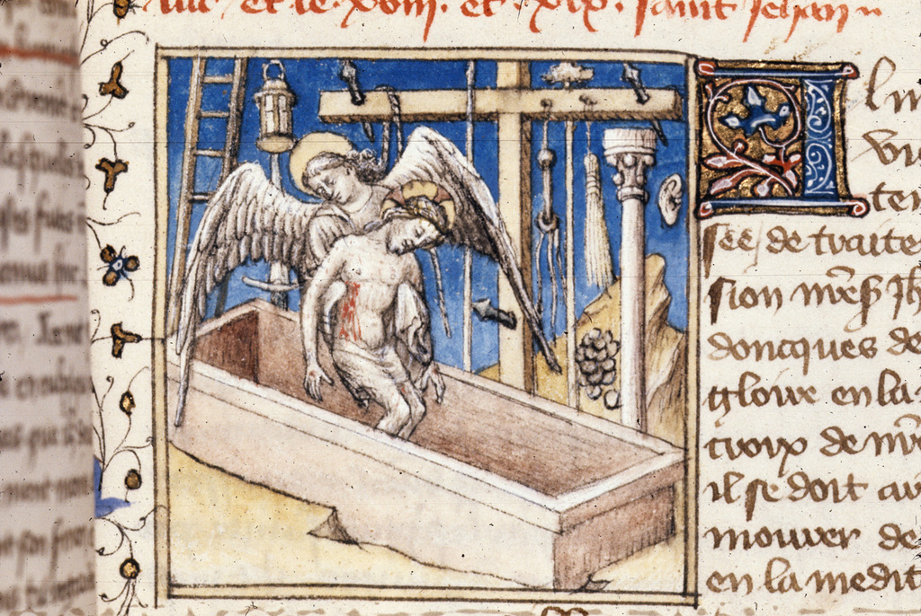 Christ in the tomb from BL Royal 20 B IV, f. 112