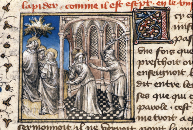 Christ leaving the Temple from BL Royal 20 B IV, f. 95v