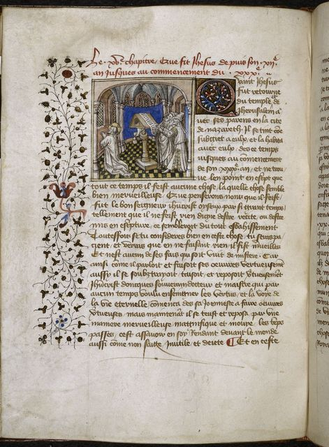Christ praying from BL Royal 20 B IV, f. 40v
