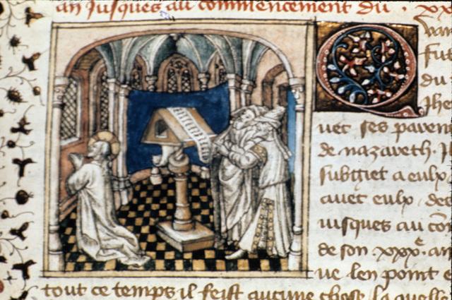Christ praying from BL Royal 20 B IV, f. 40v