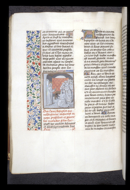 Christ preaching from BL Royal 15 D I, f. 290v