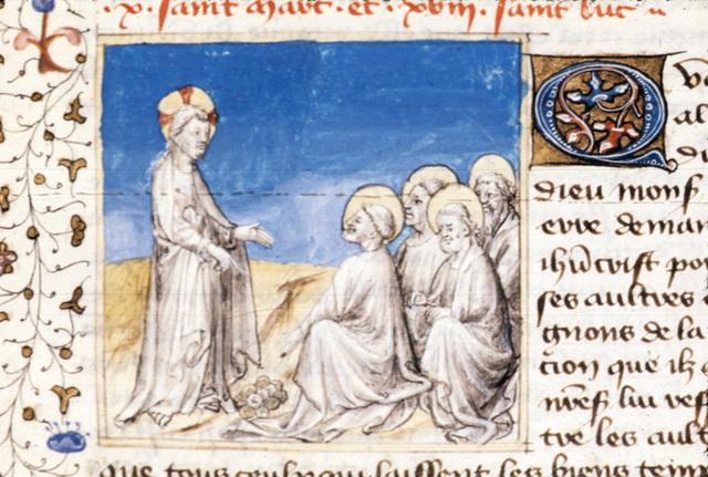 Christ teaching from BL Royal 20 B IV, f. 79