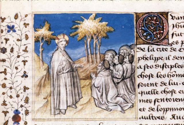 Christ teaching from BL Royal 20 B IV, f. 81