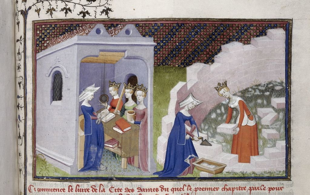 Christine de Pizan from BL Harley 4431, f. 290