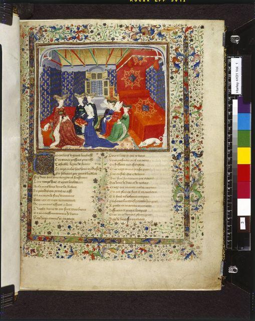 Christine de Pizan from BL Harley 4431, f. 3