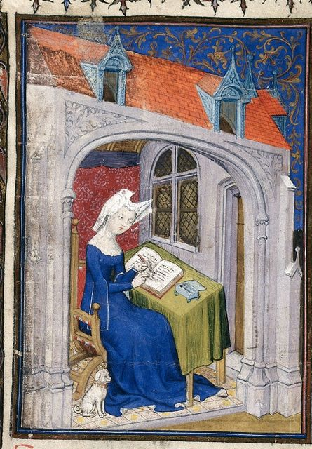 Christine de Pizan from BL Harley 4431, f. 4