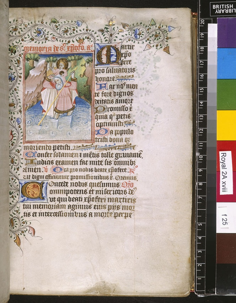 Christopher from BL Royal 2 A XVIII, f. 25
